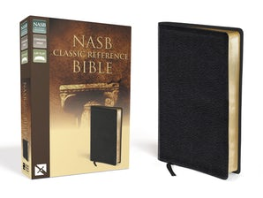 Nasb Classic Reference Bible Bonded Leather Black Red