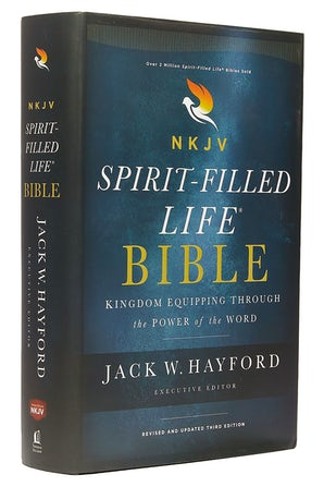 NKJV, Spirit-Filled Life Bible, Third Edition, Hardcover, Red Letter Edition, Comfort Print book image