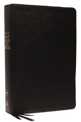 NKJV, Spirit-Filled Life Bible, Third Edition, Genuine Leather, Black, Red Letter Edition, Comfort Print