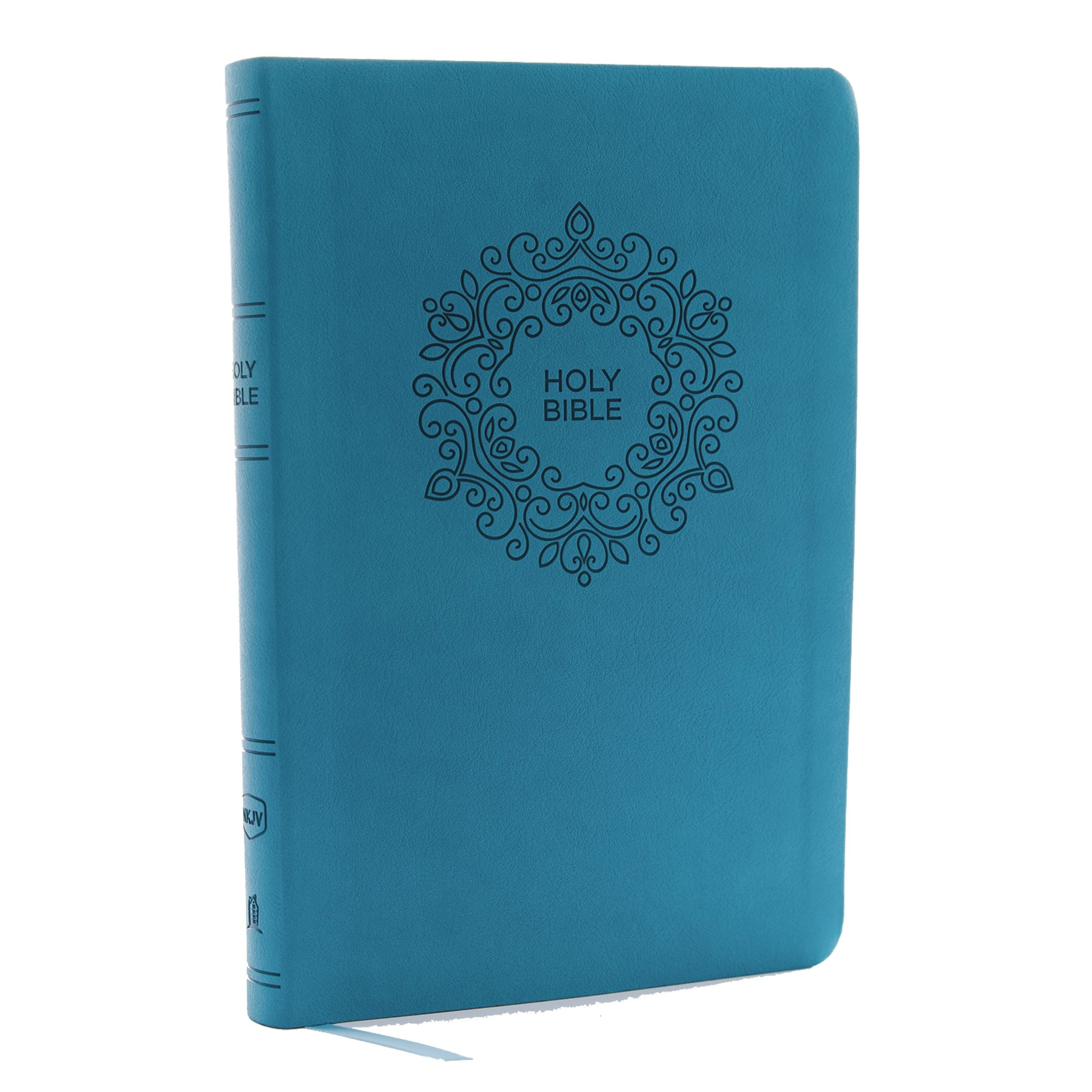 Nkjv  Value Thinline Bible  Large Print  Leathersoft  Blue
