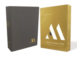 NKJV, Ancient-Modern Bible, Cloth over Board, Gray, Comfort Print