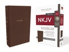 NKJV, Deluxe Reference Bible, Compact Large Print, Leathersoft, Brown, Red Letter Edition, Comfort Print
