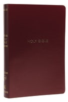 NKJV, Reference Bible, Center-Column Giant Print, Leather-Look, Burgundy, Thumb Indexed, Red Letter Edition, Comfort Print