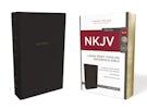 NKJV, Thinline Reference Bible, Large Print, Leathersoft, Black, Red Letter Edition, Comfort Print
