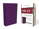 NKJV, Thinline Reference Bible, Large Print, Leathersoft, Purple, Red Letter Edition, Comfort Print