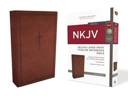 NKJV, Deluxe Thinline Reference Bible, Large Print, Leathersoft, Red, Red Letter Edition, Comfort Print