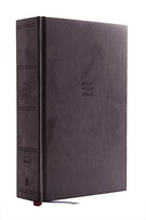 NKJV, Single-Column Reference Bible, Cloth Over Board, Gray, Comfort Print