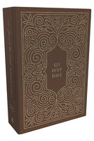 KJV, Journal the Word Reference Bible, Cloth over Board, Brown, Red Letter Edition, Comfort Print