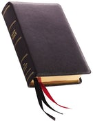 NKJV, Single-Column Reference Bible, Premium Goatskin Leather, Black, Premier Collection, Comfort Print