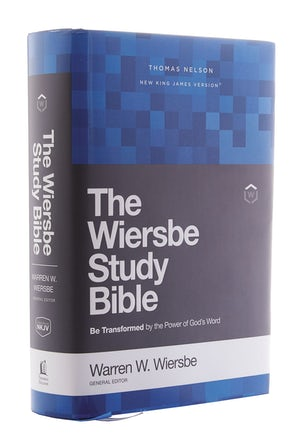 NKJV, Wiersbe Study Bible, Hardcover, Red Letter Edition, Comfort Print book image