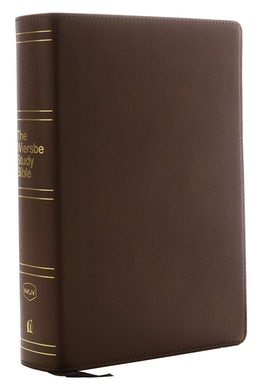 NKJV, Wiersbe Study Bible, Genuine Leather, Brown, Red Letter Edition, Comfort Print