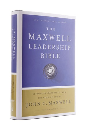 NIV, Maxwell Leadership Bible, 3rd Edition, Hardcover, Comfort Print book image
