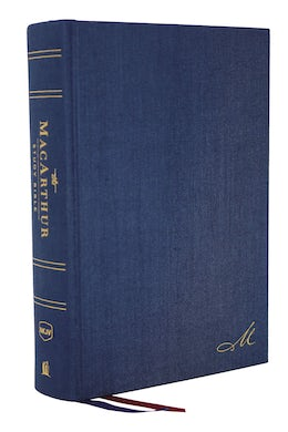 The NKJV, MacArthur Study Bible, 2nd Edition, Cloth over Board, Blue, Comfort Print
