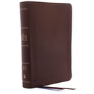 The KJV, Open Bible, Genuine Leather, Brown, Red Letter Edition, Comfort Print