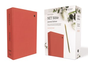 NET Bible, Journal Edition, Cloth over Board, Coral, Comfort Print book image