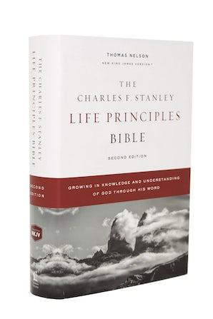 NKJV, Charles F. Stanley Life Principles Bible, 2nd Edition, Hardcover, Comfort Print book image