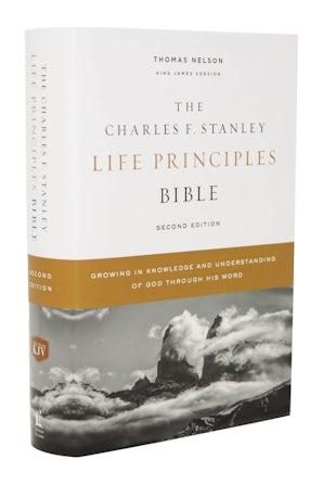 KJV, Charles F. Stanley Life Principles Bible, 2nd Edition, Hardcover, Comfort Print book image