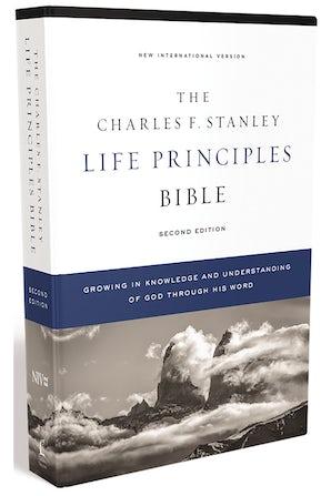 NIV, Charles F. Stanley Life Principles Bible, 2nd Edition, Hardcover, Comfort Print book image