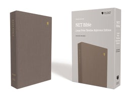NET Bible, Thinline Reference, Large Print, Cloth over Board, Gray, Comfort Print