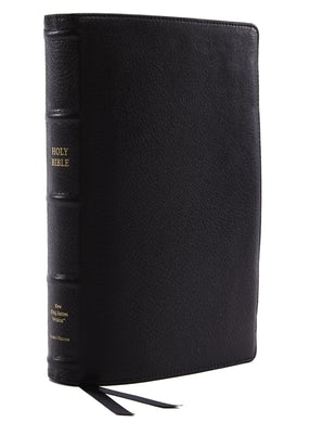 NKJV, Reference Bible, Classic Verse-by-Verse, Center-Column, Premium Goatskin Leather, Black, Premier Collection, Red Letter Edition, Comfort Print book image