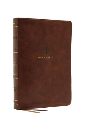 NRSV, Catholic Bible, Thinline Edition, Leathersoft, Brown, Comfort Print