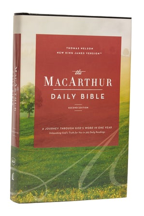 The NKJV, MacArthur Daily Bible, 2nd Edition, Hardcover, Comfort Print book image