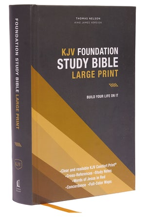 KJV, Foundation Study Bible, Large Print, Hardcover, Red Letter, Thumb Indexed, Comfort Print book image