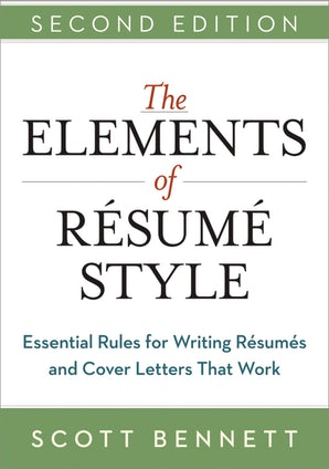 The Elements of Resume Style book image