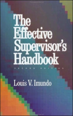 Effective Supervisor's Handbook