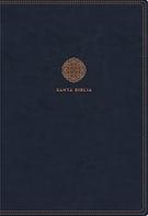 RVR60 Santa Biblia Letra Supergigante, Leathersoft con Índice y Cierre, Azul