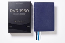 Reina Valera 1960 Biblia Letra Gigante, Colección Premier, Azul Marino, Interior a dos colores