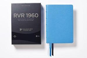 Reina Valera 1960 Biblia Letra Gigante, Colección Premier, Azul, Interior a dos colores Leather / fine binding  by Vida,