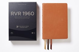 Reina Valera 1960 Biblia Letra Gigante, Colección Premier, Caramelo, Interior a dos colores