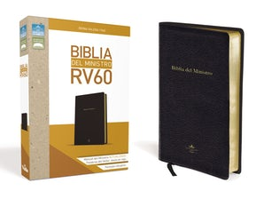 Biblia del ministro Reina Valera 1960, Leathersoft, Negro / Spanish Ministers Bible RVR 1960, Leathersoft, Black Leather / fine binding REV by RVR 1960- Reina Valera 1960,
