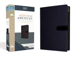 LBLA Santa Biblia Ultrafina Compacta, Leathersoft, Azul c/Cierre