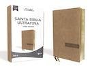 NBLA Santa Biblia Ultrafina, Letra Grande, Tamaño Manual, Leathersoft, Beige, Edición Letra Roja