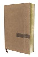NBLA Santa Biblia, Una Columna con Referencias, Letra Grande, Leathersoft, Beige, Edición Letra Roja