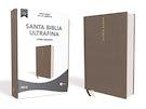 NBLA Santa Biblia Ultrafina, Letra Gigante, Tapa dura/Tela, Gris, Edición Letra Roja