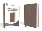 NBLA Santa Biblia, Letra Supergigante, Tapa Dura/Tela, Gris, Edición Letra Roja