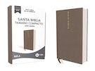NBLA Santa Biblia, Letra Grande, Tamaño Compacto, Tapa dura/Tela, Gris, Edición Letra Roja