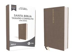 NBLA Santa Biblia, Letra Grande, Tamaño Compacto, Tapa dura/Tela, Gris, Edición Letra Roja Hardcover LTE by Vida,