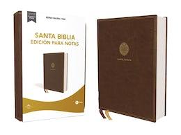 Reina Valera 1960 Santa Biblia Edición para Notas, Leathersoft, Café, Letra Roja