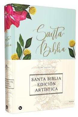 Reina Valera 1960 Santa Biblia Edición Artística, Tapa Dura/Tela, Floral, Canto con Diseño, Letra Roja