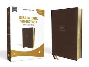 Reina Valera 1960 Santa Biblia del Ministro, Leathersoft, Café, Edición Letra Roja book image