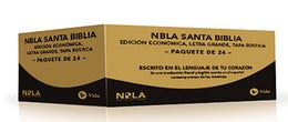 NBLA Santa Biblia, Edición Económica, Letra Grande, Tapa Rústica / Paquete de 24