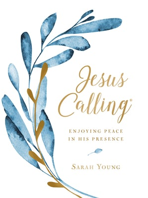 Jesus Calling (Large Text Cloth Botanical Cover) book image