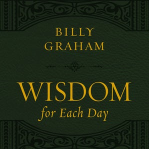 Wisdom for Each Day (Large Text Leathersoft) book image