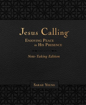 Jesus Calling Note-Taking Edition, Leathersoft, Black, with full Scriptures book image