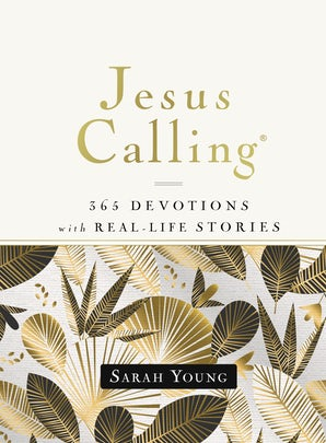 Jesus Calling, 365 Devotions with Real-Life Stories, Hardcover, with Full Scriptures book image