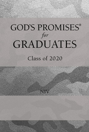 God's Promises for Graduates: Class of 2020 - Silver Camouflage NIV book image